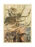 Siegfried Goes Away Giclee Print by Arthur Rackham