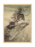 Maidens Tease Alberich Giclee Print by Arthur Rackham