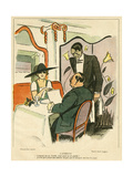 Choosing from Menu 1919 Giclee Print by Charles Laborde