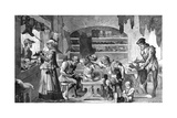 Swedish Shoemaker's Shop Giclee Print by Carl Larsen