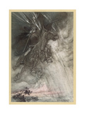 Wotan Rides to Rock Giclee Print by Arthur Rackham