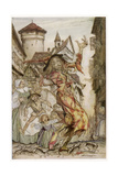 Pied Piper, Rats Giclee Print by Arthur Rackham