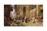 A Street Scene in Cairo Giclée-Druck von Charles Robertson