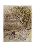 Wind in Willows, Grahame Giclée-trykk av Arthur Rackham