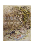 Wind in Willows, Grahame Premium Giclee Print by Arthur Rackham
