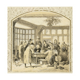 Christmas Charity Giclee Print by Birket Foster