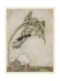 Folklore, Dragons Giclee Print by Arthur Rackham