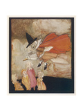 Mother Goose Rides Goose Giclee Print by Arthur Rackham