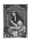 St Birgitta of Sweden Giclee Print by Bernard Picart
