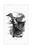 Shadow Drawing. C.H. Bennett, Goose Giclee Print by Charles H Bennett