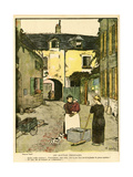 Social, Town Street 1918 Giclee Print by Charles Genty