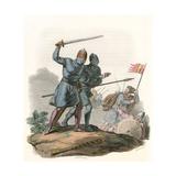 Anglo-Danish Warriors Giclee Print by Charles Hamilton Smith