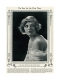 Gladys Cooper in 1923 Giclee Print by Dorothy Wilding