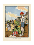 Minstrels on Beach, 1908 Giclee Print by Charles Robinson