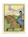 Small Girl on Horse Giclee Print by Charles Robinson