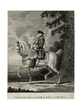 Friedrich II on Horse Giclee Print by Daniel Chodowiecki