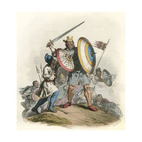 Anglo-Saxon King Giclee Print by Charles Hamilton Smith