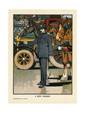 Policeman on Traffic Duty Giclee Print by Charles Robinson