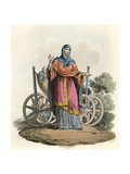 Anglo-Saxon Lady Giclee Print by Charles Hamilton Smith