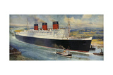 Queen Mary' Ocean Liner to Greenock, Inverclyde Giclee Print by C.e. Turner