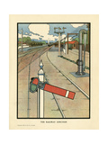 The Railway Junction Giclee Print by Charles Robinson
