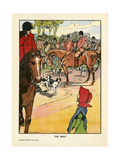Foxhunting - the Meet Giclee Print by Charles Robinson