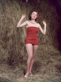 Hibiscus Girl 1950S 4, 4 Photographic Print by Charles Woof