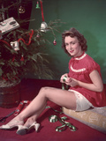 Wrapping Gifts 1950s Photographic Print by Charles Woof