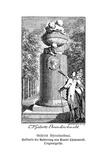 Gellert's Monument Giclee Print by Daniel Chodowiecki