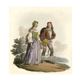 15th Century Couple Giclee Print by Charles Hamilton Smith