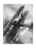 A Balancing Feat over the German Lines, WW1 Aviation Giclee Print by Christopher Clark