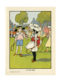 Children, Park C1908 Giclee Print by Charles Robinson