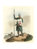 Scots Knight 14th Cent Giclee Print by Charles Hamilton Smith