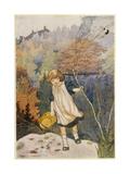 Garden, Loki Girl 1914 Giclee Print by Charles Robinson