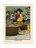 London Flower Sellers Giclee Print by Charles Robinson