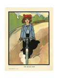 Girl on a Bike Giclee Print by Charles Robinson