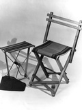 Folding Travel Chair Photographic Print by Elsie Collins