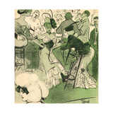 French Women Drinking at a Bar, 1906 Giclee Print by Edouard Bernard