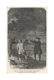 Benjamin Franklin and His Kite Giclee Print by Emile Bayard