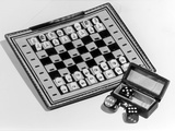 Pocket Chess and Draughts Photographic Print by Elsie Collins