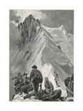 Climbing, Alps, Nadelhorn Giclee Print by Ernst Platz