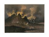 Etna Erupts 1869 Giclee Print by Eugene Ciceri