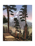 Alps, Matterhorn 1913 Premium Giclee Print by Donald Mcleish