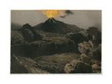 Etna Lava Desert Giclee Print by Eugene Ciceri