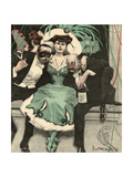 Masked Ball, Green Dress Giclee Print by Ernst Heilemann