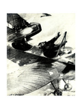 WW1 - Von Falkenhayn Killed in Air Duel, 1915 Giclee Print by E. Hudgson