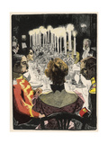 Smart Dinner Party, Thony Giclee Print by Eduard Thony