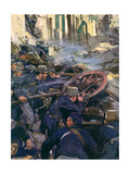 WWI, Belgian Resistance Premium Giclee Print by Cyrus Cuneo