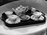 'Derby Posies' Teaset Photographic Print by Elsie Collins