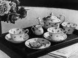'Rose' Tea Set Photographic Print by Elsie Collins